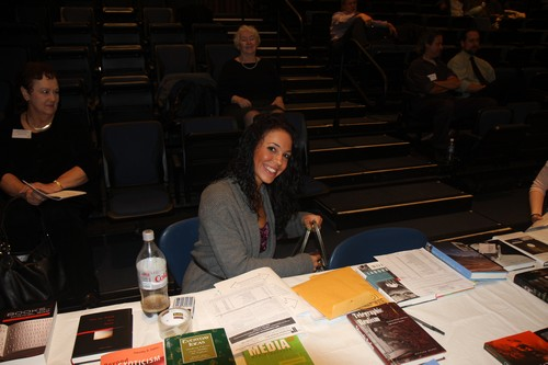 Suzannah Leseur, a student at Manhattan College, was most helpful in the administration of the conference