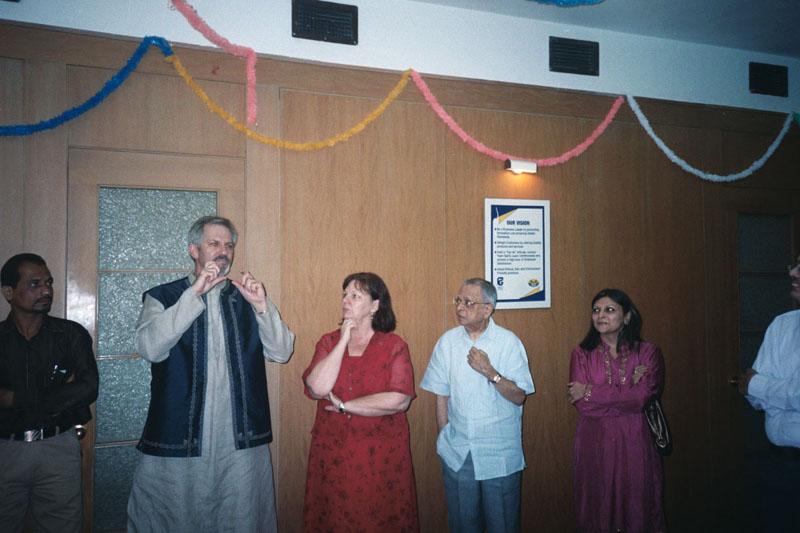 Unidentified, Steve Stockdale, Andrea Johnson, Balvant Parekh, and Unidentified<br>India152